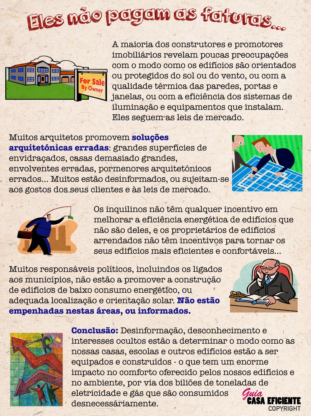 Faturas energéticas casas e edifícios